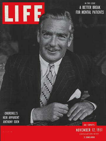 Time magazine cover of Anthony Eden